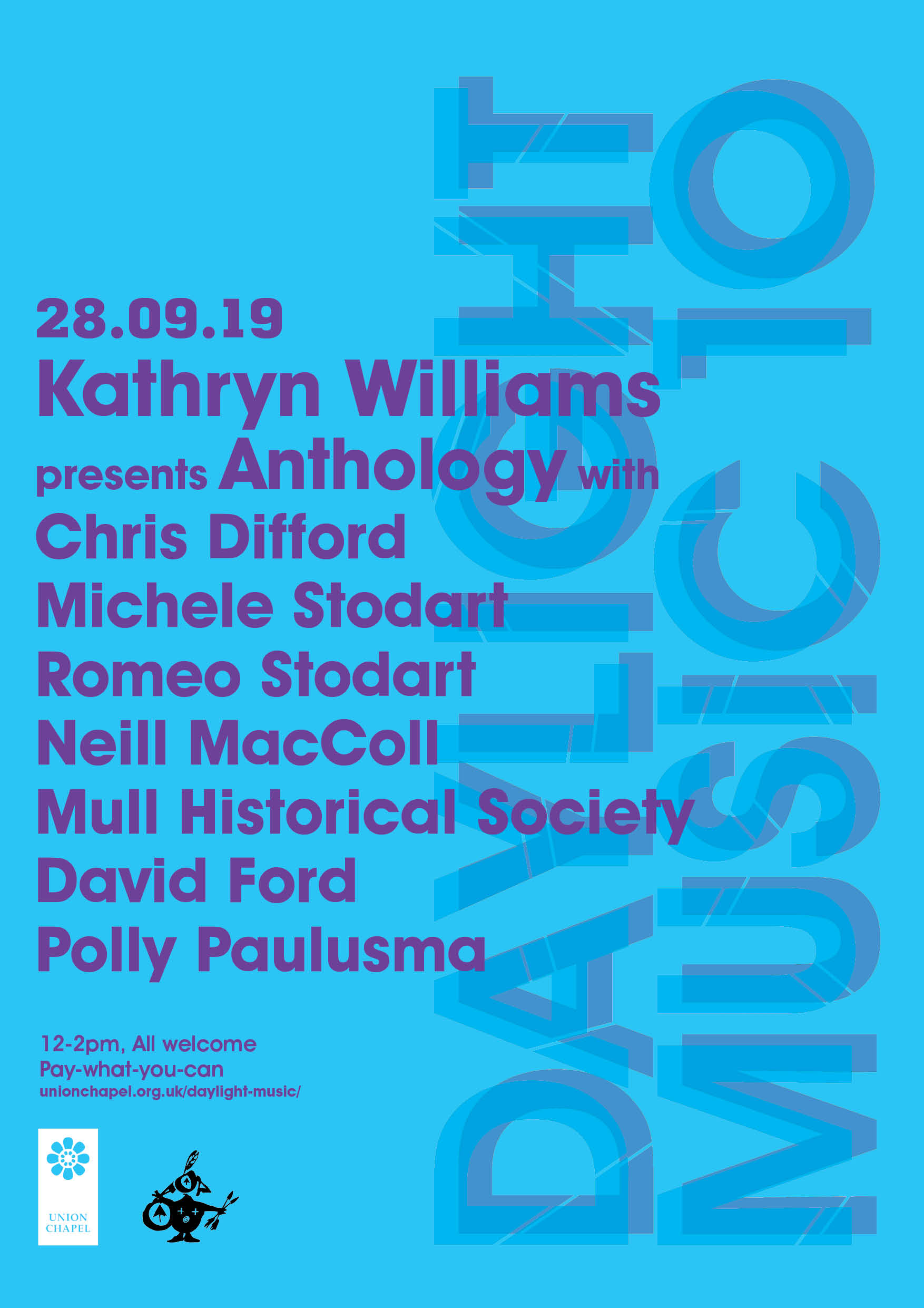 Colin / MHS joins Kathryn William, Chris Difford and The Magic Numbers at Union Chapel, London Sat 28th Sept