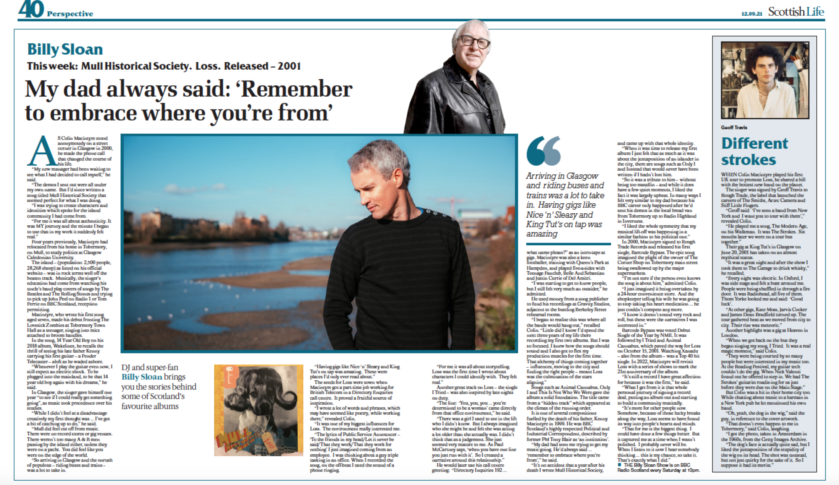 'Loss' in 'Scotland's Greatest Albums' – Sunday Herald – Plus 20th anniversary & New MHS album NEWS!